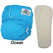 Softbums Cloth Diaper Newborn BAMBOO Set • One Size Adjustable • 4-Piece Set • Echo Shell + 3 Small BAMBOO Pods