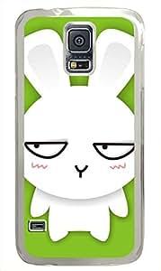 galaxy s5 case,custom samsung galaxy s5 case,TPU Material,Drop Protection,Shock Absorbent,Transparent case,cute cartoon patterncute rabbit