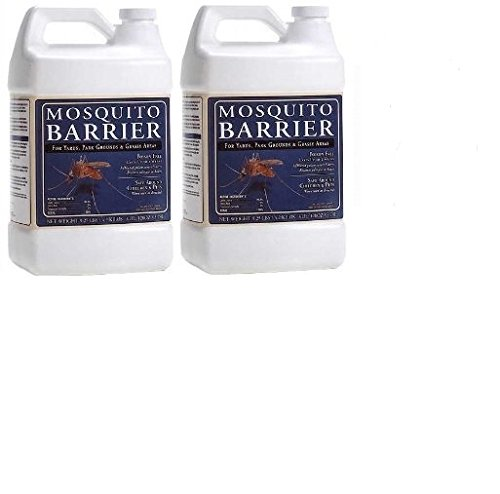 Mosquito Barrier Mosquito Repellent 1 Gallon + Mosquito Dunks the Ultimate Kit to Remove Mosquitoes Gnats Flies and Insects From Your Lawn Garden Lake and Pond