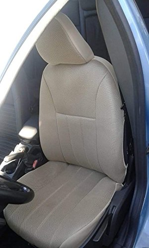 Two Front Classic Synthetic Custom Car Seat Covers VOLVO XC90 2007 2014 TAN