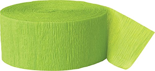 81ft Lime Green Crepe Paper Streamers