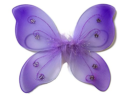 Rush Dance Newborn Doll Fairy Angel Wings Tinkerbell Princess Tutu Photography (Newborn, Lavender)]()