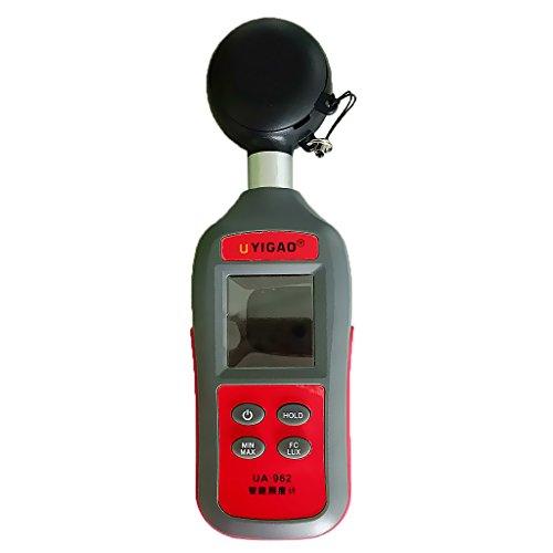 MonkeyJack 0-200,000 Lux Digital LCD Light Meter Photometer Luxmeter (Mini Photometer)