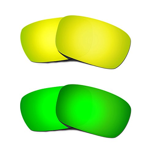 Used, Hkuco Plus Replacement Lenses For Oakley Jury 24K/Green for sale  Delivered anywhere in Canada