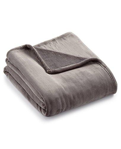 Charter Club Plush Throw Blanket (Slate Grey)