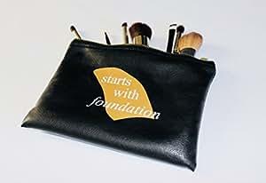 Faux Leather & Vegan Cosmetic Bag, Makeup Bag, Travel Bag