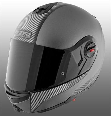 Speed & Strength SS1700 Lock and Load Helmet , Helmet Type: Modular Helmets, Helmet Category: Street, Distinct Name: Lock and Load Silver Carbon, Primary Color: Silver, Size: Md, Gender: Mens/Unisex 876467