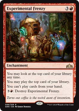 Frenzy Foil - Magic: The Gathering - Experimental Frenzy - Foil - Guilds of Ravnica - Rare