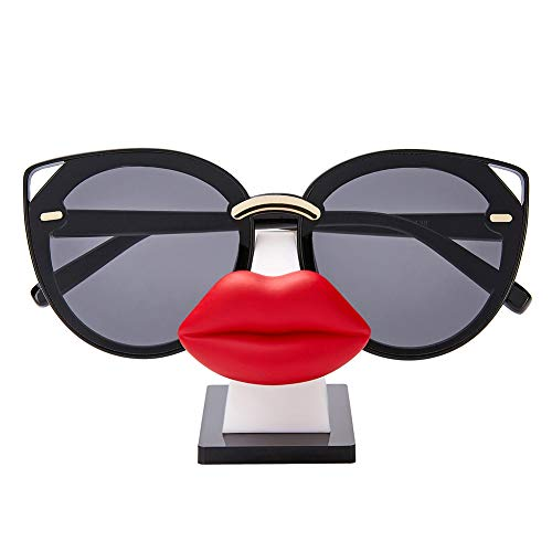 i-Win Eyeglass Holder Stand Sunglasses Holder Nose Shape Glasses Display Stand Funny Table Décor (Hot ()