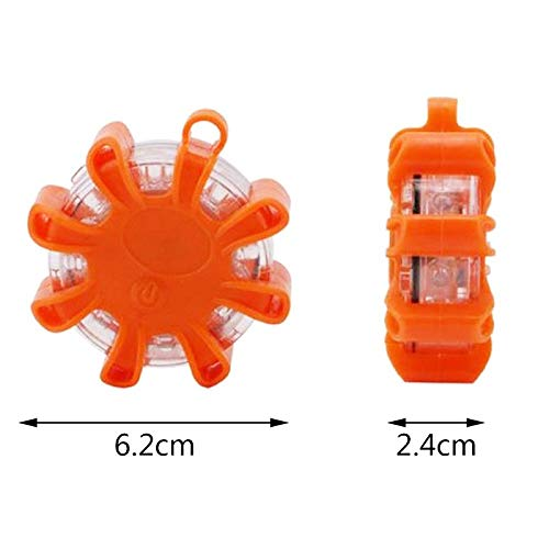 Moligh doll 8Led Road Road Flare Flashing Warning Light Roadside Flare Emergency Disc Beacon With Magnetic Base For Car Marine Boat