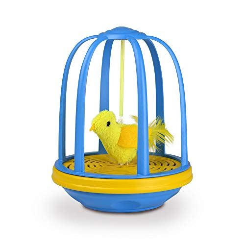 Pet Zone 1550013406 Electronic Action Toy Caged Canary