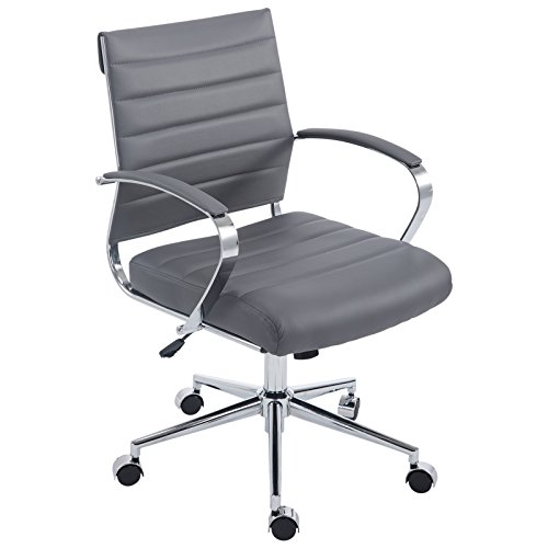 Poly and Bark Tremaine Office Chair in Vegan Leather, Grey