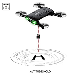RC Quadcopter Drone with 2.0MP Camera Live Video Foldable Arms Pocket Mini Drone for Beginners 2.4G 6-Axis Headless Mode RTF Helicopter by Kidcia