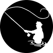 Fly Fishing fisherman Round Mousepad Mouse Pad Great Gift Idea Precision lock edge