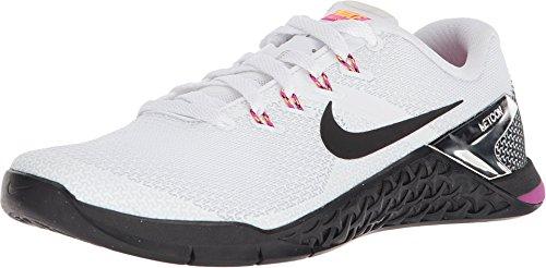 Nike Women's Metcon 4 Training Shoe White/Black Fuchsia Blast Laser Orange (9, White/Black-Fuchsia Blast-Laser - Training Womens Nike