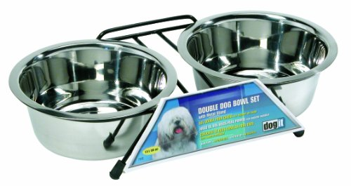 Two Dog Diner (Dogit Stainless Steel Double Dog Diner, Medium)