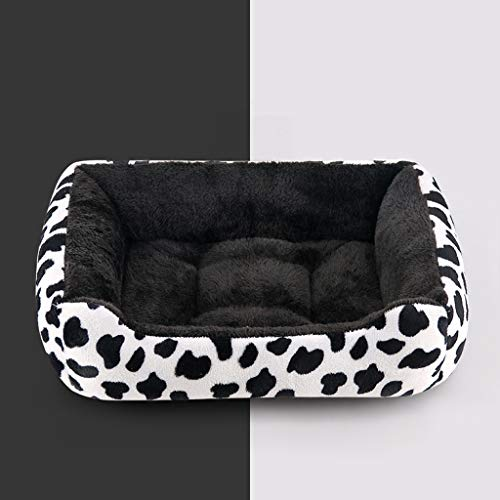 (Pet Waterloo Rectangle Shape Dimple Nesting, Pet Bed Soft Fur Comfortable, Pet Nest for Dogs Bottom Non-Slip, Pet House for Dog Cat Puppy Rabbit,D,45x30x15cm )