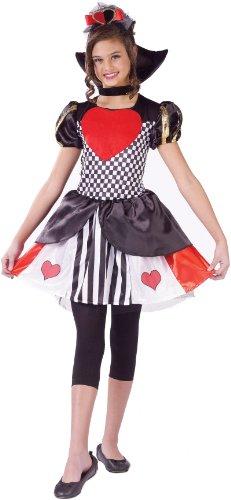 Spirit Queen Of Hearts Girls Costume, Childs Small - Queen Of Hearts Costume Spirit Halloween