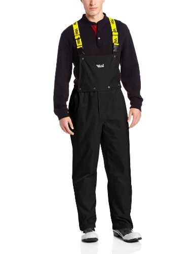 Viking Journeyman Waterproof Industrial Bib Pant, Black, Large