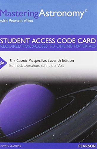 Price comparison product image MasteringAstronomy with Pearson eText -- Standalone Access Card -- for The Cosmic Perspective (7th Edition)