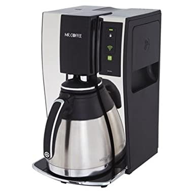 Mr. Coffee Smart Wifi-Enabled WeMo 10-Cup Optimal Brew Coffeemaker, BVMC-PSTX91WE