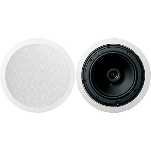 Jamo 8.5CS 8.5'' Round In-Ceiling Surround Sound Home Theater Speakers - Pair by Jamo