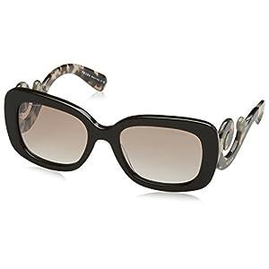 Prada PR27OS Sunglasses UAO4O0-54 - Brown Frame, Gradient Brown Mirror Silver