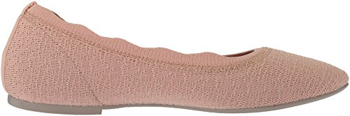 Skechers Femmes Cleo-dots-festonné Col Tricoté Skimmer Ballet Plat Rose Clair