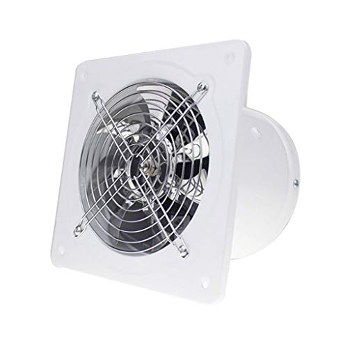 Moolo Exhaust Fan, Kitchen Bathroom Wall-Mounted ventilating Fan A1 (Color : White) (A1 Colour)