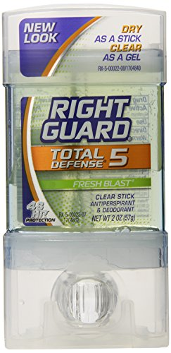 Right Guard Total Defense Clear Stick, Fresh Blast, 2-Ounce Units (Pack of 6) (Right Unit)