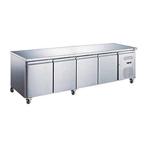 Mesa frigorífico GN 1/1 interior y exterior acero inoxidable ...