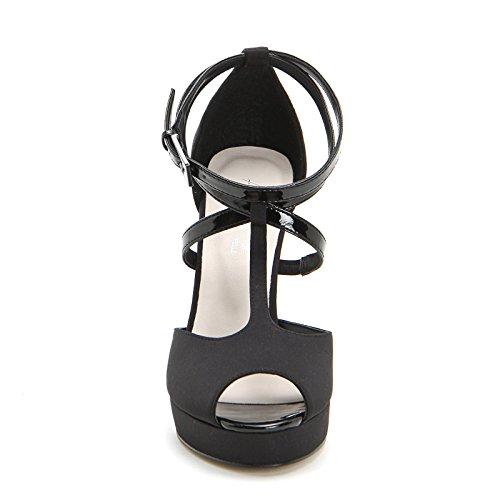 ALESYA by Scarpe&Scarpe - Sandalias altas con T-bar y correas, con Tacones 10 cm Negro