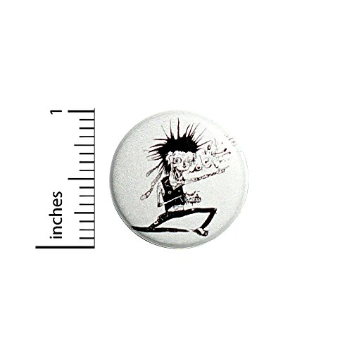 (Funny Punk Rock Zombie Button Awesome Cool Jacket or Backpack Pin 1