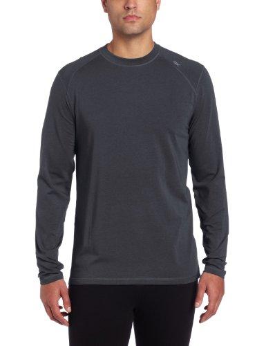 Bamboo Long Sleeve Shirt - tasc Performance Carrollton Long Sleeve T-Shirt, Gunmetal, Large