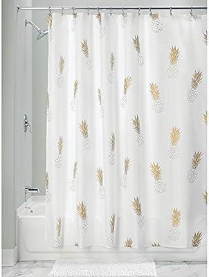 InterDesign Novelty Poly rideau de douche moderne pour salle de bain ...