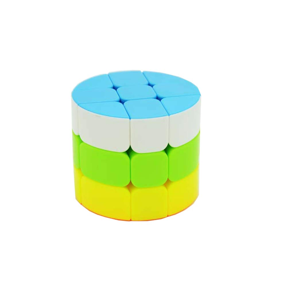 AI-YUN 3x3x3 Magic Cube 5 Color 3 Layer Cylindrical Speed Cube Kids Puzzle Toys