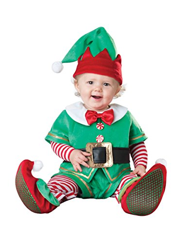 InCharacter Costumes Baby's Santa's Lil' Elf Costume, Red, X-Small (Christmas Costumes Baby)