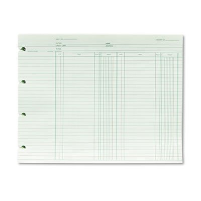Accounting, 9-1/4 x 11-7/8, 100 Loose Sheets/Pack, Sold as 2 Package