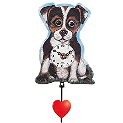 Pinnacle Peak Trading Company Jack Russel Terrier Dog with Moving Eyes Quartz Movement Mini German Clock