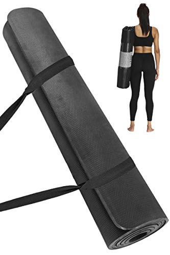DOISPON Yoga Mat Extra Wide 72L x 32W x 2/5 Thick Non Slip Workout Fitness Home Exercise Mats for Women Men