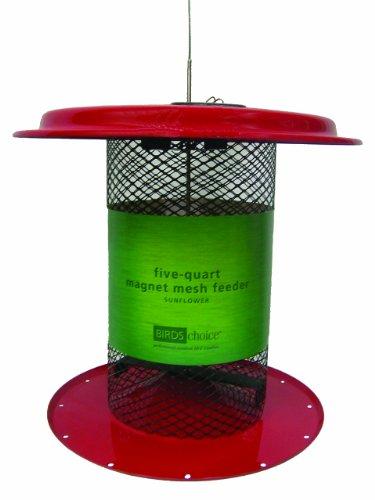 Birds Choice 5 qt. Magnet Mesh Black Oil Sunflower Feeder-Red