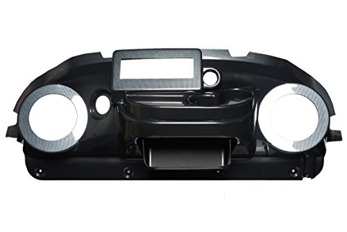 VIP PRDHCFEZIRT Club Car Precedent Dash Carbon Fiber EZ Install Din Radio Speaker Cut-Out 6.5 Inches