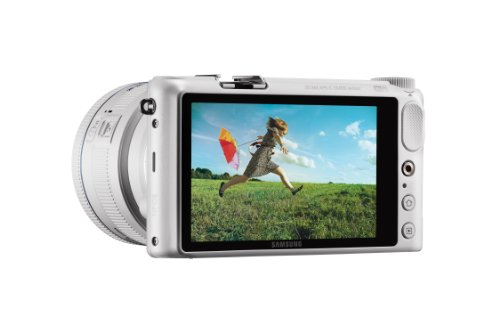 Samsung NX2000 20.3MP CMOS Smart WiFi Mirrorless Digital Camera with 20-50mm Lens and 3.7'' Touch Screen LCD (White) (Discontinued by Manufacturer) by Samsung (Image #3)