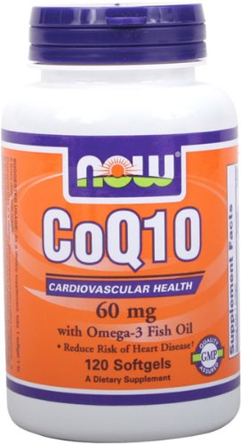 NOW Foods CoQ10 60 mg d'oméga-3,