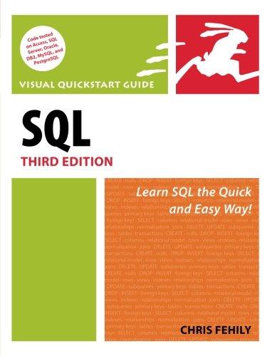 SQL: Visual QuickStart Guide (Visual QuickStart Guides)