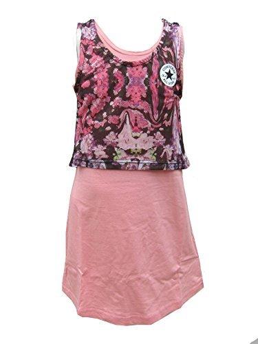 Niña Converse Vestido 2 en 1 Top y vestido Iconos All Star Daybreak Rosa Edad 8