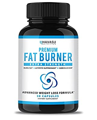 Extra Strength Weight Loss Pills and Appetite Suppressant - CLA, Green Tea Extract, Apple Cider Vinegar, Coral Calcium, White Kidney Beans - Fat Burner & Metabolism Boost