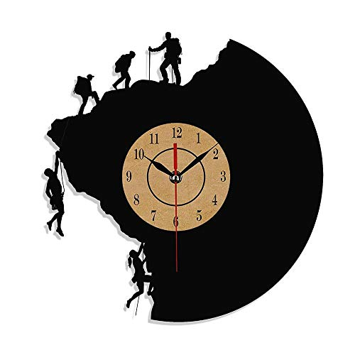 Ice Rock Climbing - Rock Climbing Gift Wall Clock Vinyl Record for Mountain Climber Bouldering Ice Climbing Lover