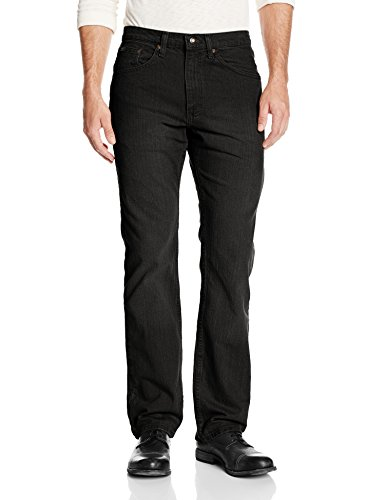 Lee Men's Premium Select Classic Fit Straight Leg Jean, Double Black, 36W x 29L