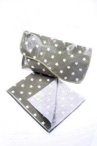 Messy Me Mini bolso cambiador y alfombrilla–muy compacto, ideal para caber en un bolso de mano o en un Carrito azul azul marino clásico verde oliva grisáceo
